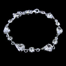 Elegant Tear Drop Drip Wedding Bridal Prom Party Czech Crystal Bracelet