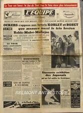 Journal l'Equipe n°2566 - 1954 - Okers - Koblet - Bobet - Hassenforder - Robic -