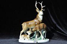 Porzellanfigur,Porzellan Rehe,Rehgruppe, Wild, Hirschgruppe, Hirsch, Thüringen