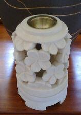 New Balinese Stone Frangipani Tee Light Candle Oil Burner Bali Height 17cm Tea