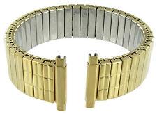 16-19mm Speidel Straight Twist-O-Flex Stainless Gold Tone Mens WatchBand 3603/37