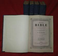 Libro Antico 1839 Sacra Bibbia Latino Francese De Genoude Sainte Bible Francais