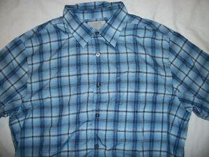 MINT Hollister Hawaiian Blue Plaid Casual Dress Shirt L