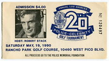 1990 Ticket: LAPD Celebrity Golf Game - ROBERT STACK