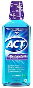 ACT Total Care Anticavity Rinse, Icy Clean Mint, 18 oz (3 Pack)