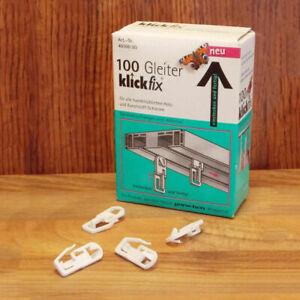 KlickFix Gardinengleiter Universal Universalgleiter Gardinenhaken Gleiter
