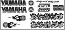 Banshee Decals Black Full Color Stickers Graphics 14pc ATV QUAD