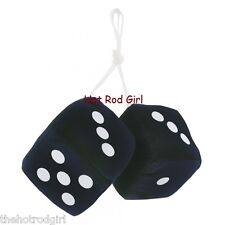 """3"""" Fuzzy Dice BLACK with White Dots"""