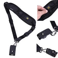 Black Single Shoulder Sling Belt Strap for DSLR Digital SLR Camera Quick Release