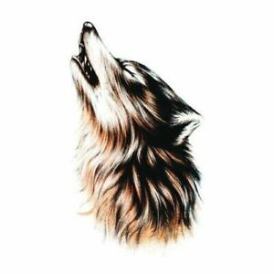 Tattoo Sticker Domineer Color Wild Wolf King Roaring Flower Arm Large Fashion