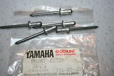 5 NOS yamaha snowmobile frame rivets vk540 vmax srx700 venture sxr ex570