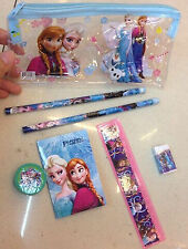 7 In1 Frozen Stationery Set Kid Girls Pencil+Eraser+Notebook+Ruler Best Gifts