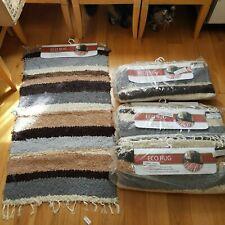 "Joblot 7x Large Recycled Cotton Rug-Eco-Friendly Handmade-130cm(51"") x 65cm(25"")"