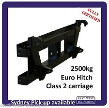 EURO QUICK HITCH CLASS 2 CARRIAGE QEH25E 2500kg for tractor  FULLY CERTIFIED