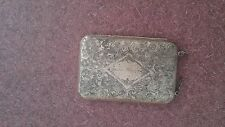 Antique German Silver Ladies Cigarette Case Change Holder & Compact