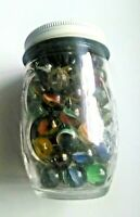 Grandma's Jelly Jar of Vintage Marbles One Shooter Size