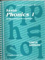Saxon Phonics 1 An Incremental Development: Home Study Teacher's
