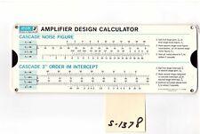 Slide Chart, Anzac Amplifier Design Calculator , free shipping (S1378)