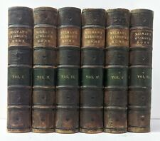 Edward Gibbon Decline and Fall of Roman Empire 6 Volumes 1858-59 Good condition