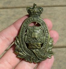 Ww1 British Canadian Queens University Overseas Highland Battalion 253 Badge