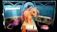 Peachy G1 Vintage My Little Pony With Pretty Parlor And Accessories