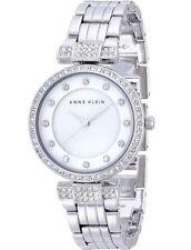 Anne Klein Watch * 1853MPSV MOP Crystals Silver Steel COD PayPal Ivanandsophia