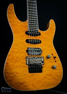 Jackson Pro Series Soloist SL3Q MAH HSS Quilted Maple in Dark Amber