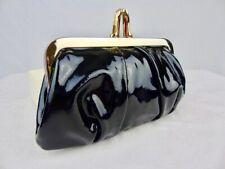authentic CHRISTIAN LOUBOUTIN Miss Loubi Black patent leather Mini Clutch