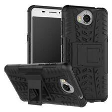 Etui Hybride 2 pièces outdoor, coloris noir housse étui pour Huawei Y6 2017