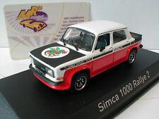 Norev 571019 # Simca 1000 Rallye 2 SRT 1977 en negro-blanco-rojo 1:43 novedad