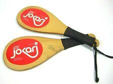 Jokari VTG 70s Champ Model Paddles Racquet Hot Tennis Ball Game All Wood NICE