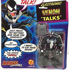 Vintage 1991 Marvel Comics ~ VENOM ~ Super Heroes Figure ToyBiz ~ Talks ~ MOC