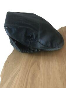 Barbour Waxed Cotton Flat Cap   Size 7 5/8