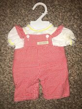 VINTAGE CABBAGE PATCH CLOTHES Coleco 1983 Red Overalls