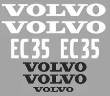 Decal Sticker Set pour VOLVO EC35 Mini Digger Bagger Pelle