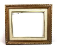 Vintage Antique Style Picture Frame Gold Gilt Gesso Baroque Fits 10 x 8