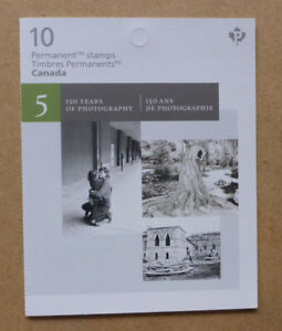 2017 CANADA PHOTOGRAPHY STAMP BOOKLET 10 STAMPS