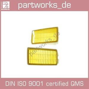 Scattering Pane for Porsche 911 3.2 930 84-89 Fog Light Glass Yellow Pair
