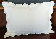 White Matelasse Standard Size Pillow Sham