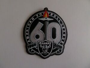 60 YEARS OF OAKLAND RAIDERS  Embroidered 3-1/2 x 4 Iron On Patch
