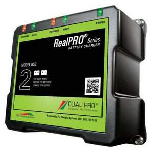 Dual Pro Realpro Series 12a 2-Bank Battery Charger #RS2