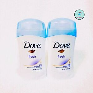 Dove Anti-Perspirant Deodorant Invisible Solid Fresh 1.6 oz / 45g Pack of 2