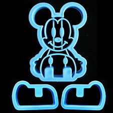 3D Mickey Cookie Cutter Set / Toast Cutter - NEW #ZN2003