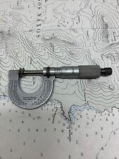 New Listingstarrett Disc Anvil Micrometer No 256 0 1 Athol Mass Usa