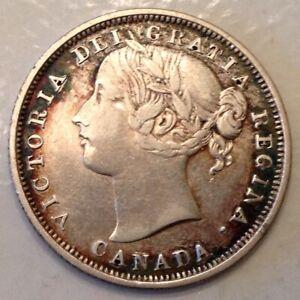 1858 Canada Victoria 20 Twenty Cents
