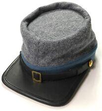 CIVIL WAR CSA CONFEDERATE INFANTRY GREY WOOL KEPI FORAGE CAP HAT-XLARGE