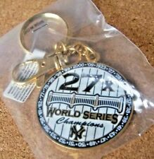 2009 NY New York Yankees 27x World Series Champions metal key ring w/ clip
