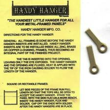 HANDY HANGERS 6 Pair (12 piece) Solid Brass solder to heavy Stained Glass panels