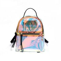 Women Traveling Backpack Transparent Laser Gradient Fashion Daily School Bags
