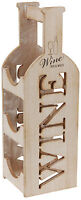 Wooden Wine Rack Wood Wine Bottle Carrier Shabby Chic Design